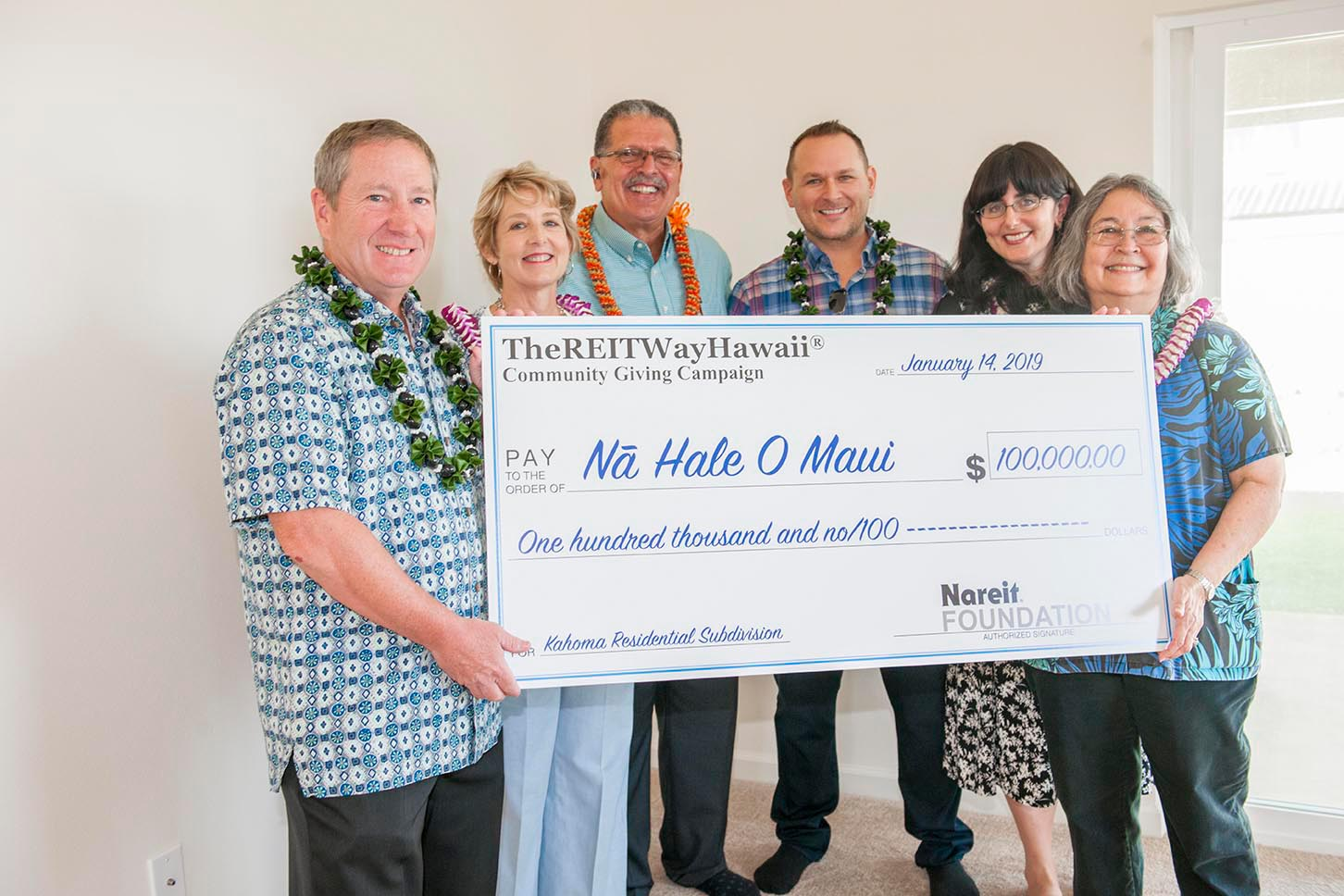 The REIT Way Hawaii Na Hale O Maui Check Presentation