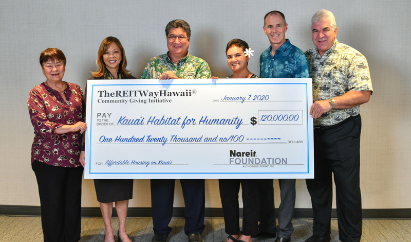 Kauai Habitat for Humanity Awarded $120,000 Grant from Nareit Foundation's REIT Way Hawaii Community Giving Initiative